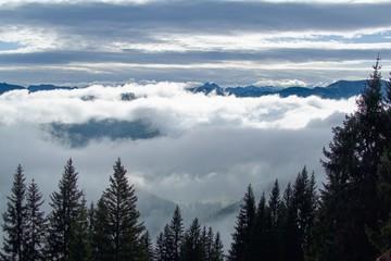 beautiful autumn hiking in berchtesgadener alps