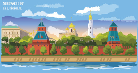 Vector colorful Moscow-5
