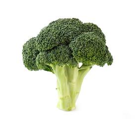 Fresh broccoli isolated on white background. Food.