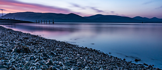 Blue hour at Greenore -  small town, townland and deep water port on Carlingford Lough in County Louth, Ireland