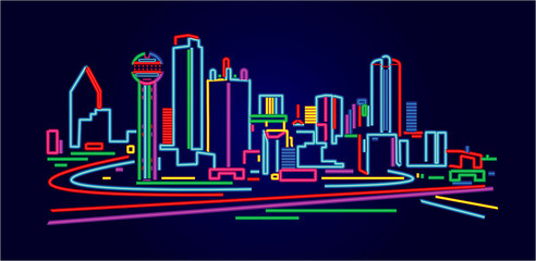 Fotomurales - Dallas Texas skyline