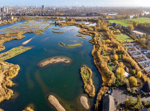 London wetland in the autumn