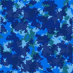 Fashion camo. Colorful camouflage vector pattern. Seamless fabric design