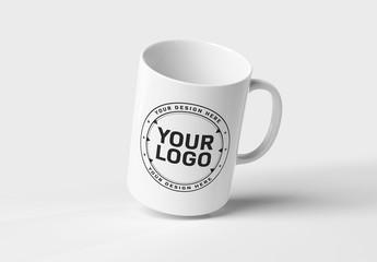 Mug Isolated on White Mockup