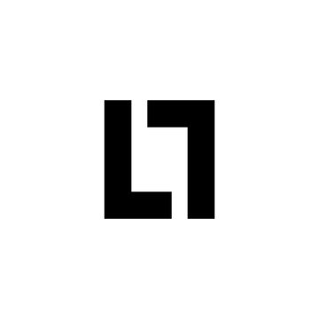 L T Initial Letter Logo Vector