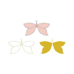 Vector hand drawn butterflies