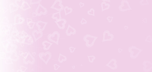 Bokeh heart on pink background.  Valentines day and love concept