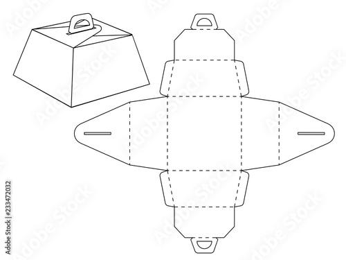 Cardboard Box Bonbonniere Custom Shaped Decorative Packet Design No