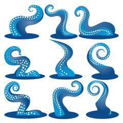 Tentacles blue  of an octopus DIY set