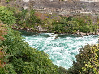 Niagara River flowing through escarpment