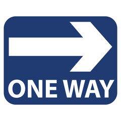 ONE WAY Arrow Right Sign