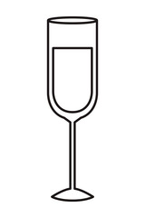 glass of wine isolated icon