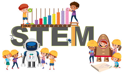 A logo of STEM education