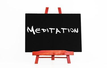 Meditation Hinweistafel