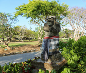 Balinese traditional symbol of hindu religion, Statue at the entrance to the Garuda Wisnu Kencana Cultural Park