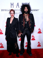 Natalia Moreno and Ara Malikian arrive for the 2018 Latin Recording Academy Person of The Year Gala honoring Mana, a Mexican rock band, in Las Vegas