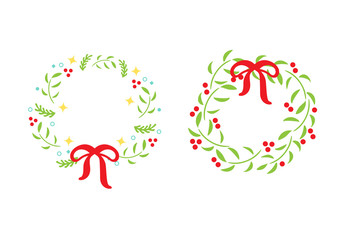 floral christmas decoration ornament frame vector