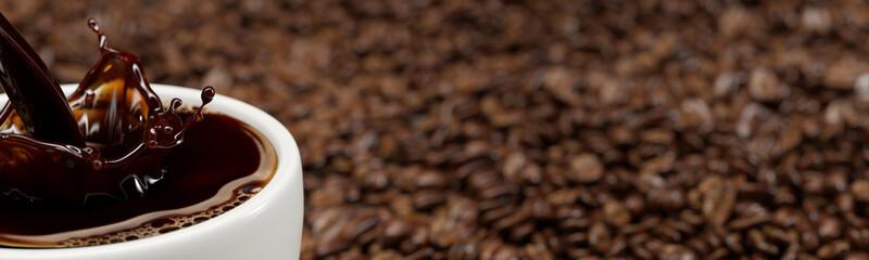Frische Tasse Kaffee wird eingegossen