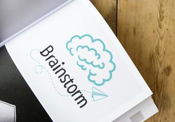 Text Brainstorm on a book
