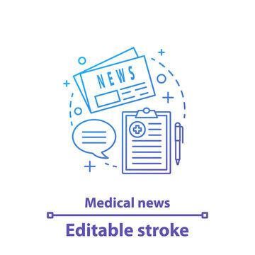 Medical news concept icon