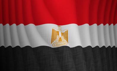 Illustration of a flying Egyptian flag