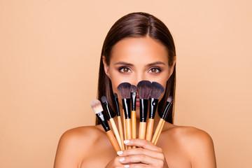 Close up portrait of brunette hair leisure lifestyle good-lookin