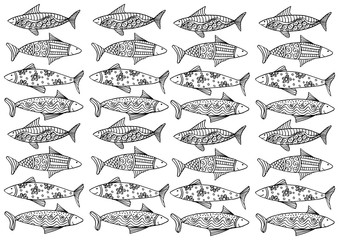 Decorative  pattern with fish.