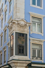 Fragment of Art Nouveau architecture style of Lisbon city