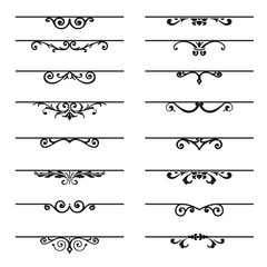 Set of decorative florish elements.