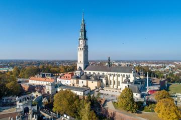 Jasna Gora monastery in Czestochowa, Poland. Aerial view Wall mural