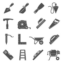 Black Icons - Masonry Tools