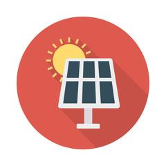 solar  panel  sun