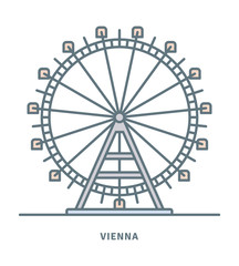 Prater Ferris Wheel at Vienna icon