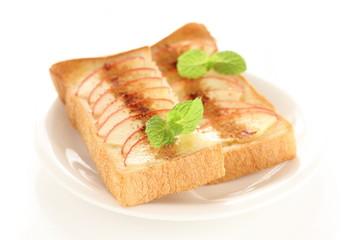 りんごのトースト