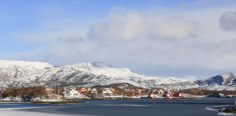 Foto auf AluDibond Arktis Winter and snow in Bronnoy municipality, north norway