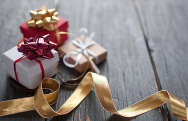 Fototapete - Christmas gifts