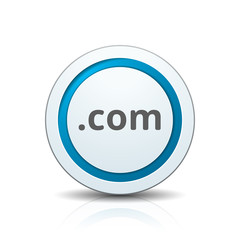 com domain name button illustration
