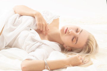 blond dreaming girl