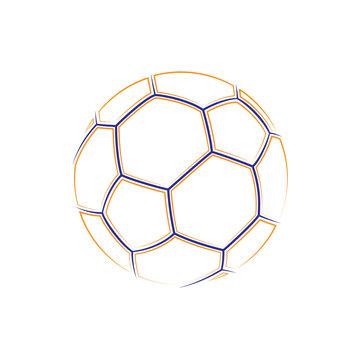 Football outline symbol