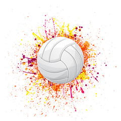 Volleyball color grunge symbol