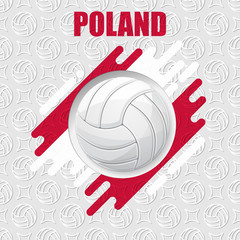 Volleyball Poland background