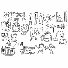 school time, doodle