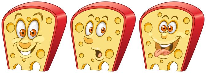 Cheese. Food Emoji Emoticon collection