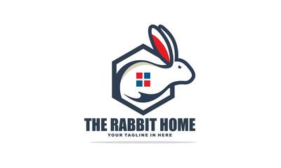 Rabbit Home Polygon Logo Simple Template