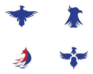 Falcon eagle bird logo vector