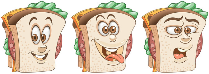 Sandwich. Snack Food concept