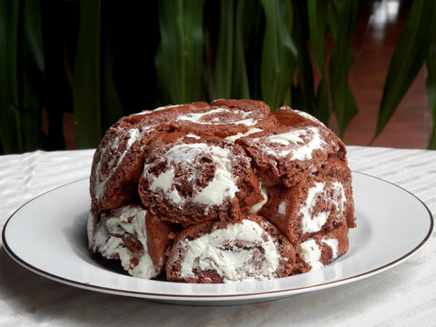 Pastel Carlota Chocolate y Vainilla