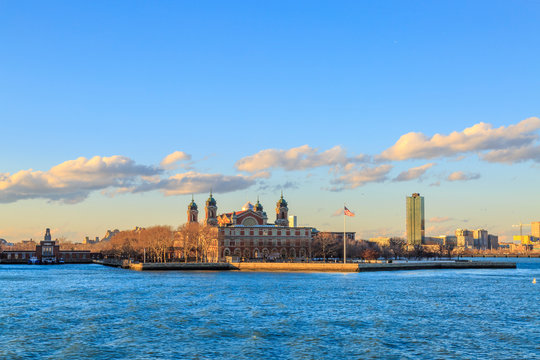 Ellis island immigration museum in New York, NY, USA