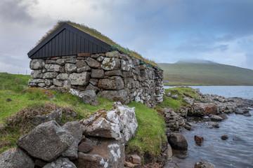 Boat House on Faroe Islands