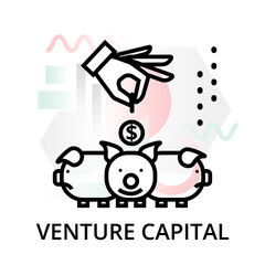 Venture capital icon on abstract background